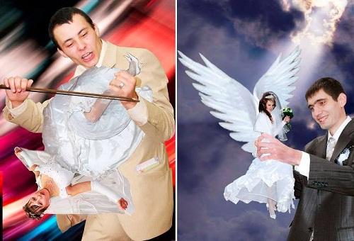 Những cặp đôi có ý tưởng chụp ảnh cưới táo bạo.