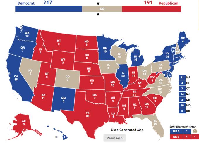 Bang chiến trường trong kỳ bầu cử năm 2016