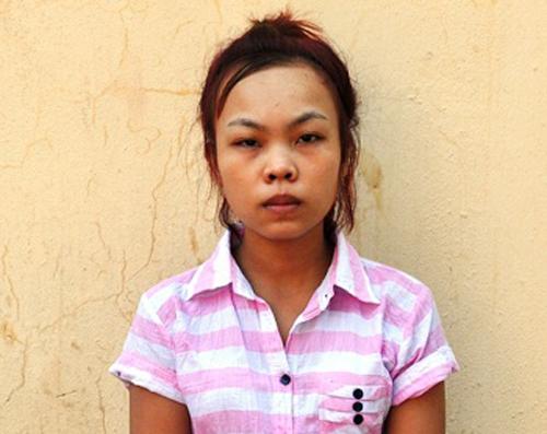 Trần Thị Tâm tại cơ quan điều tra.