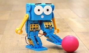 Robot nhún nhảy, đá bóng theo khả năng lập trình của trẻ em