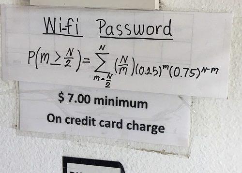 Ảnh: Phương trình wifi tại nhà hàng Thái (Ảnh: Reddit)