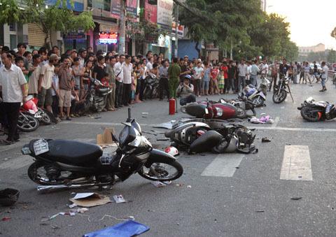 Hiện trường vụ tai nan ngày 7/10 do tài xế Nguy