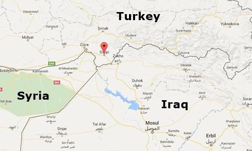 Vị trí Silopo, tỉnh Sirnak, Thổ Nhĩ Kỳ. Đồ họa: Google Maps.