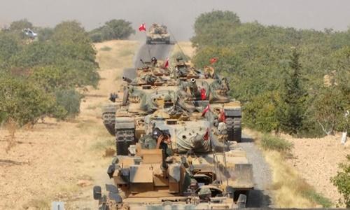 Xe tăng quân đội Thổ Nhĩ Kỳ. Ảnh: Reuters.