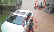 Trộm vào sân nhà bẻ gương Mercedes C300