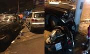 Người dân đập phá ôtô biển xanh sau va chạm ở Thanh Hóa