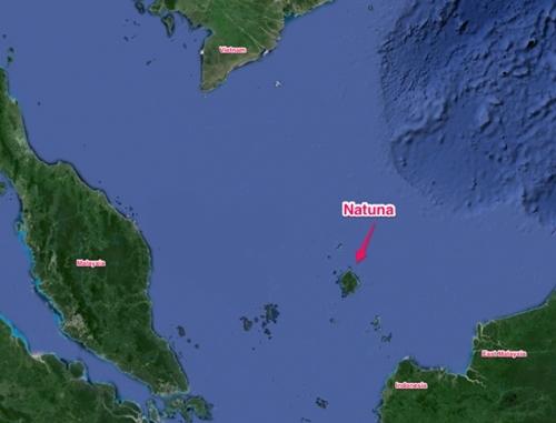 Quần đảo Natuna ở Biển Đông. Đồ họa: Developmentadvisor