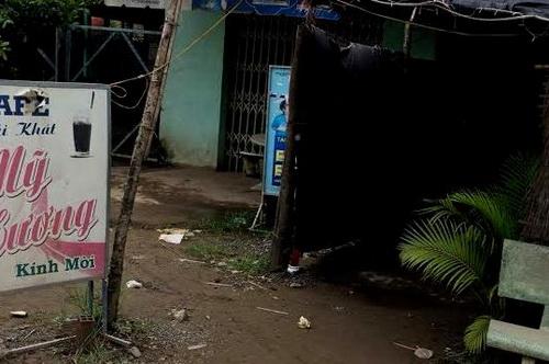 Quán cà phê nơi Phong đâm chủ quán nhằm cướp tài sản. Ảnh: Hoàng Nam