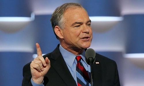 Ứng viên tranh cử phó tổng thống Mỹ của đảng Dân chủ, ông Tim Kaine. Ảnh: Time.com