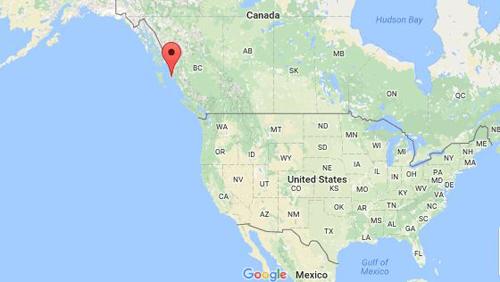 Vị trí đảo Banks ở phía tây Canada, nơi thợ lặnSmyrichinsky