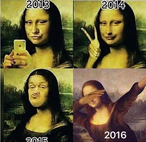 Khi nàng Mona Lisa cập nhật trào lưu chụp ảnh.