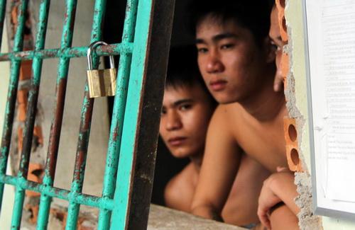 Các học viên tại cơ sở cai nghiện Đồng Nai. Ảnh: Phước Tuấn