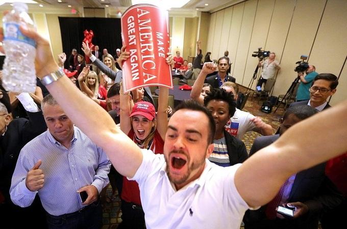Các cung bậc ăn mừng Donald Trump đắc cử tổng thống