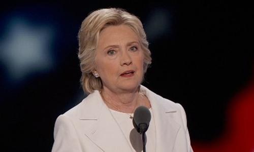 Hillary Clinton sẽ không phát biểu tối nay. Ảnh minh họa: CNN.