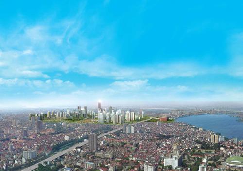 Chủ đầu tư dự án đặt kỳ vọng đây sẽ là trung tâm hành chính - kinh tế - văn hóa mới của Thủ đô.