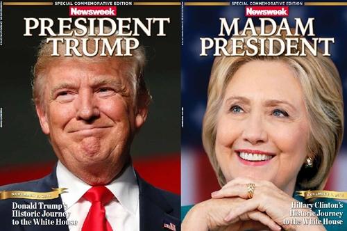 Ấn bản Tổng thống Trump và Quý bà Tổng thống. Ảnh: Twitter/Newsweek.