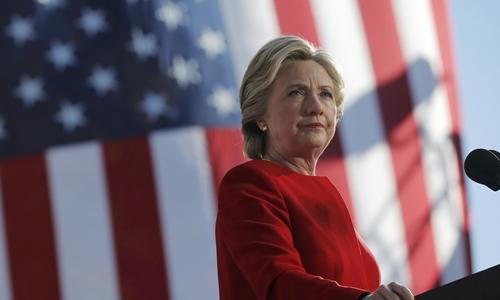 Bà Hillary Clinton thua cuộc trong cuộc đua đến Nhà Trắng năm 2016. Ảnh: Reuters.