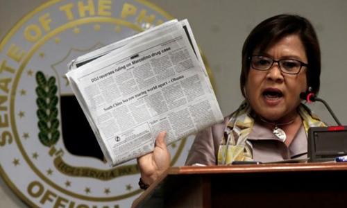 Cựu bộ trưởng tư pháp Philippines Leila De Lima. Ảnh: Reuters.