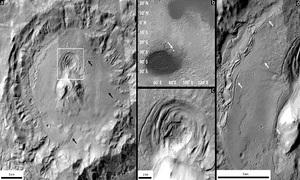 Vết lõm hình phễu trên sao Hỏa có thể mang dấu hiệu sự sống