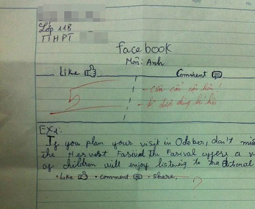 Làm bài kiểm tra thời Facebook.