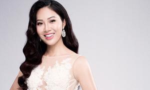 Diệu Ngọc giới thiệu bản thân ở Miss World