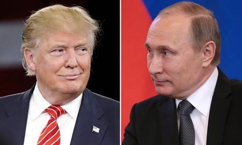 Tổng thống đắc cử Trump và Tổng thống Nga Putin. Ảnh: Guardian.
