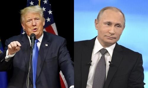 Tổng thống Mỹ đắc cử Donald Trump (trái) và Tổng thống Nga Vladimir Putin. Ảnh: Reuters.