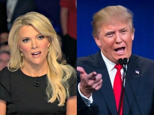 Megyn Kelly, dẫn chương trình đài Fox News, và Donald Trump, tổng thống Mỹ đắc cử. Ảnh: Fox, AP