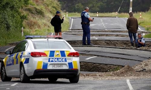 Trận động đất hôm 13/11 gây ra 80.000 đến 100.000 dư chấn tại New Zealand. Ảnh: Quartz.com