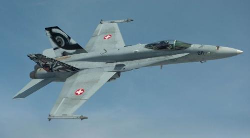 Chiến đấu cơ F/A-18 của Thuỵ Sĩ. Ảnh: Wikpedia