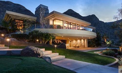 Một ngôi nhà ở Rancho Mirage từng được cho là Tổng thống Barack Obama đã mua. Ảnh: LA Times.