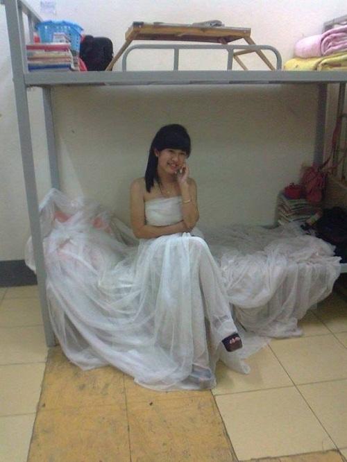 Áo cưới sinh viên.