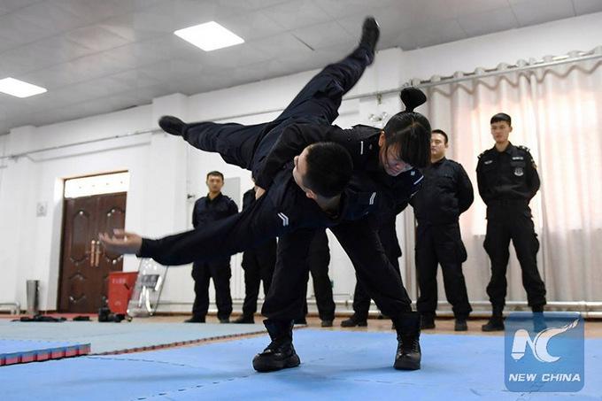 Nữ đặc nhiệm vô địch giải võ thuật công an Trung Quốc