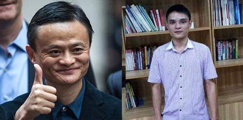 Huang Jian đã chi tiền phẫu thuật để trông giống tỷ phú Jack Ma (trái). Ảnh: Shanghaiist
