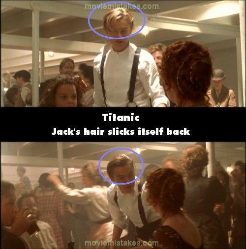 Trong phút chốc, chàng Jack đã kịp vuốt keo, tạo dáng cho mái tóc để lấy lại phong độ đẹp trai trước mặt người đẹp.