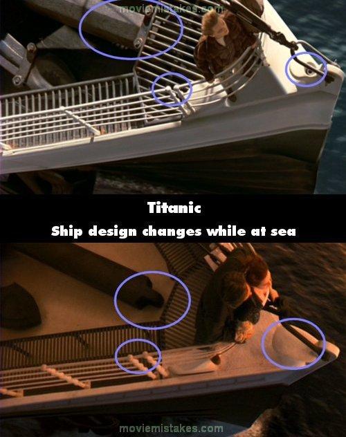 Dù lênh đênh giữa biển khơi và không có sự xuất hiện của thợ thuyền, nhưng cấu trúc của con tàu Titanic đã thay đổi hoàn toàn chỉ trong một ngày.