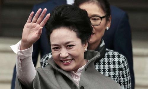 Đệ nhất phu nhân Trung Quốc Bành Lệ Viện. Ảnh: Reuters.