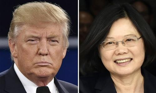 Tổng thống đắc cử Donald Trump hôm 2/12 có cuộc điện đàm 10 phút với nhà lãnh đạo Đài Loan Thái Anh Văn. Ảnh: Wall Street Journals.