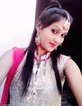 Chân dung vũ công xấu số Kulwinder Kaur. Ảnh: Caters News Agency