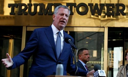 Thị trưởng New York Bill de Blasio. Ảnh: Reuters.