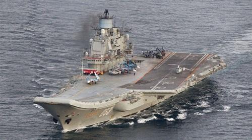 tàu sân bay Đô đốc Kuznetsov của Hải quân Nga. Ảnh: