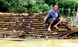 Hàng nghìn căn nhà ở Bình Định bị lũ nhấn chìm tới nóc