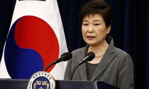 Tổng thống Hàn Quốc Park Geun-hye. Ảnh: Reuters.