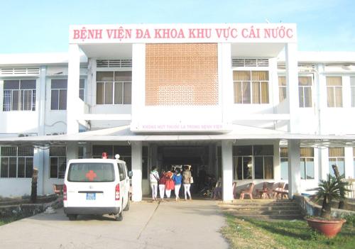 Bệnh viện đa khoa khu vực huyện Cái Nước - nơi cháu bé tử vong sau bốn ngày điều trị. Ảnh: Phúc Hưng
