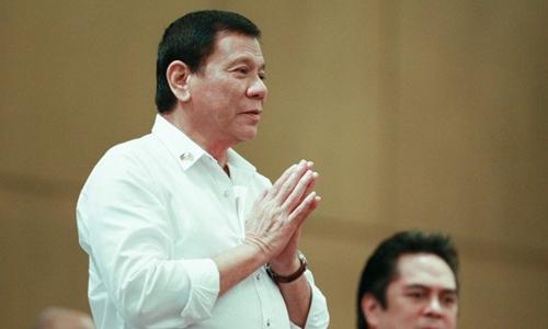 Tổng thống Philippines Duterte. Ảnh: Inquirer.