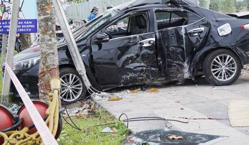 Hiện trường vụ tai nạn khiến tài xế tử vong tại chỗ. Ảnh: Nguyệt Triều