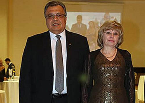 Vợ chồng đại sứ Nga tại Thổ Nhĩ Kỳ AndreiKarlov