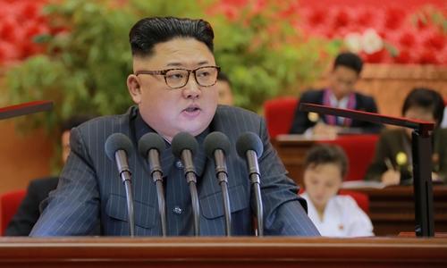 Nhà lãnh đạo Kim Jong-un hồi tháng 9 ra lệnh thử hạt nhân mạnh nhất trước nay, tương đương 10.000 tấn thuốc nổ TNT. Ảnh: KCNA.