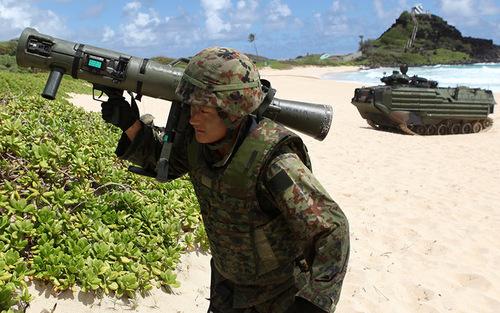 Binh sĩ lực lượng Phòng vệ Nhật Bản. Ảnh: AP.