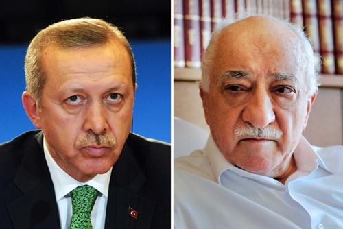 Tổng thống Thổ Nhĩ Kỳ và giáo sĩ Gulen.